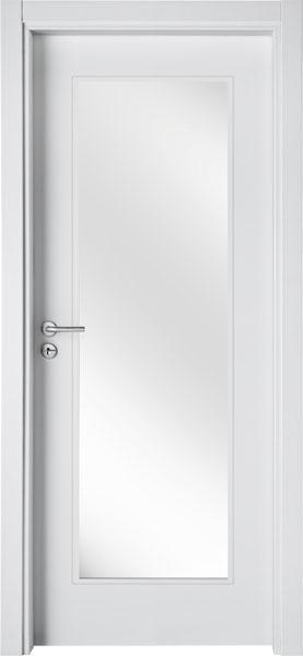 LA01V1 Branco / Porta de Vidro