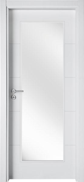 LA04V1 Branco / Porta de Vidro